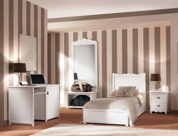 Pareti A Strisce Verticali : Parete righe verticali sotto la trave ❤️casa❤ bedroom