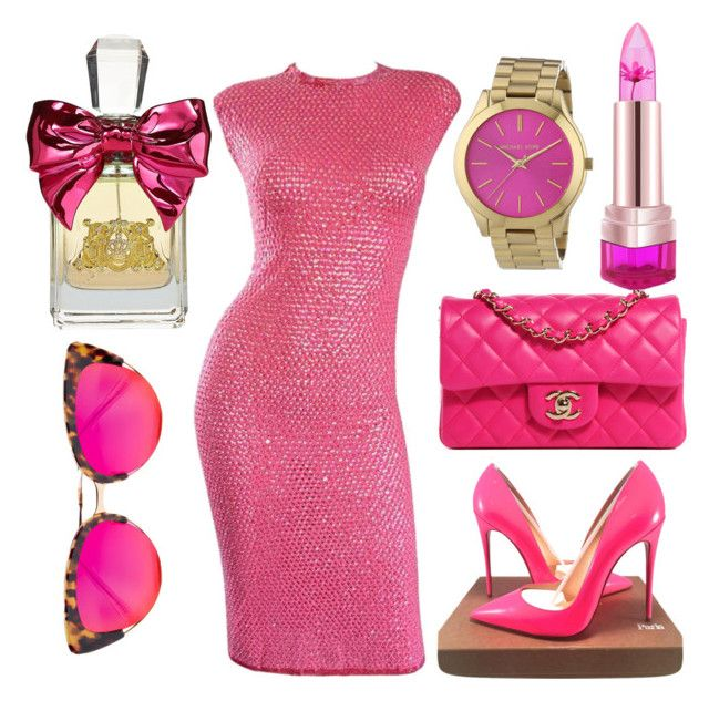 """Untitled #593"" by mustafamontgomery ❤ liked on Polyvore featuring Christian Louboutin, Michael Kors, Chanel, Juicy Couture and Krewe"