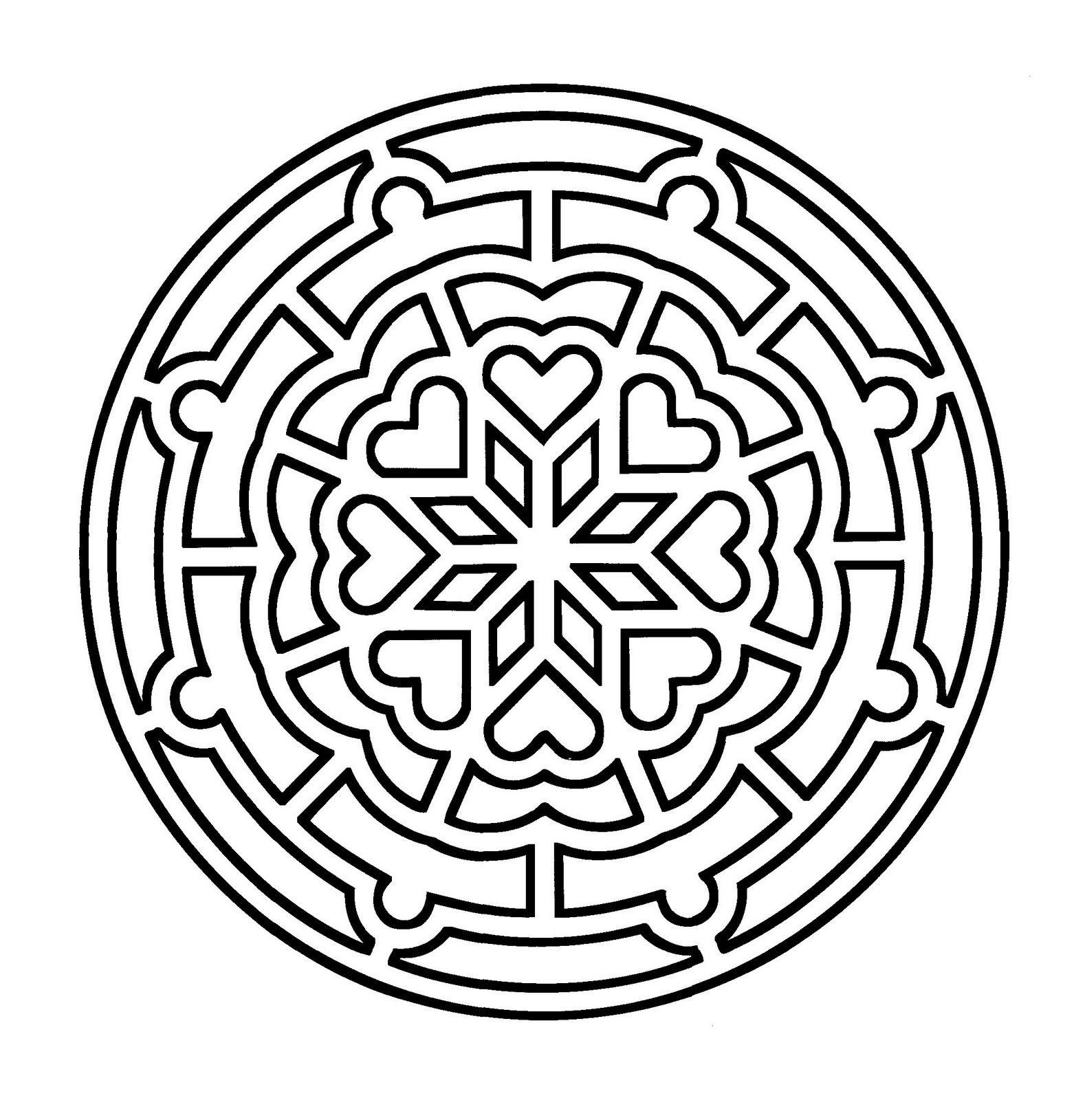 Mandalas Para Pintar: Mandala rosetón | diseños sencillos ...
