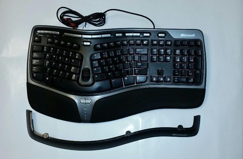 Microsoft Natural Ergonomic Keyboard Usb 4000 Wired V1 0 Model Ku 0462 Microsoft Keyboard Microsoft Keyboards