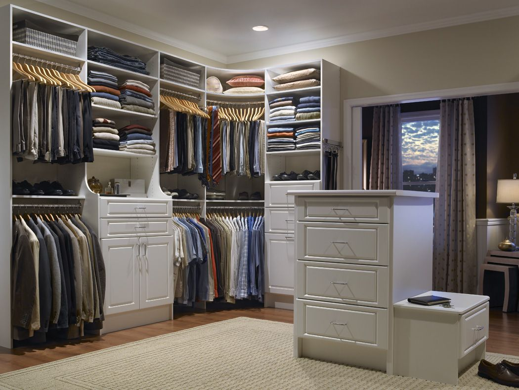 Walk In Closet With Rod In Corner Bedroom Closet Systems Best Closet Organization Master Bedroom Closets Organization