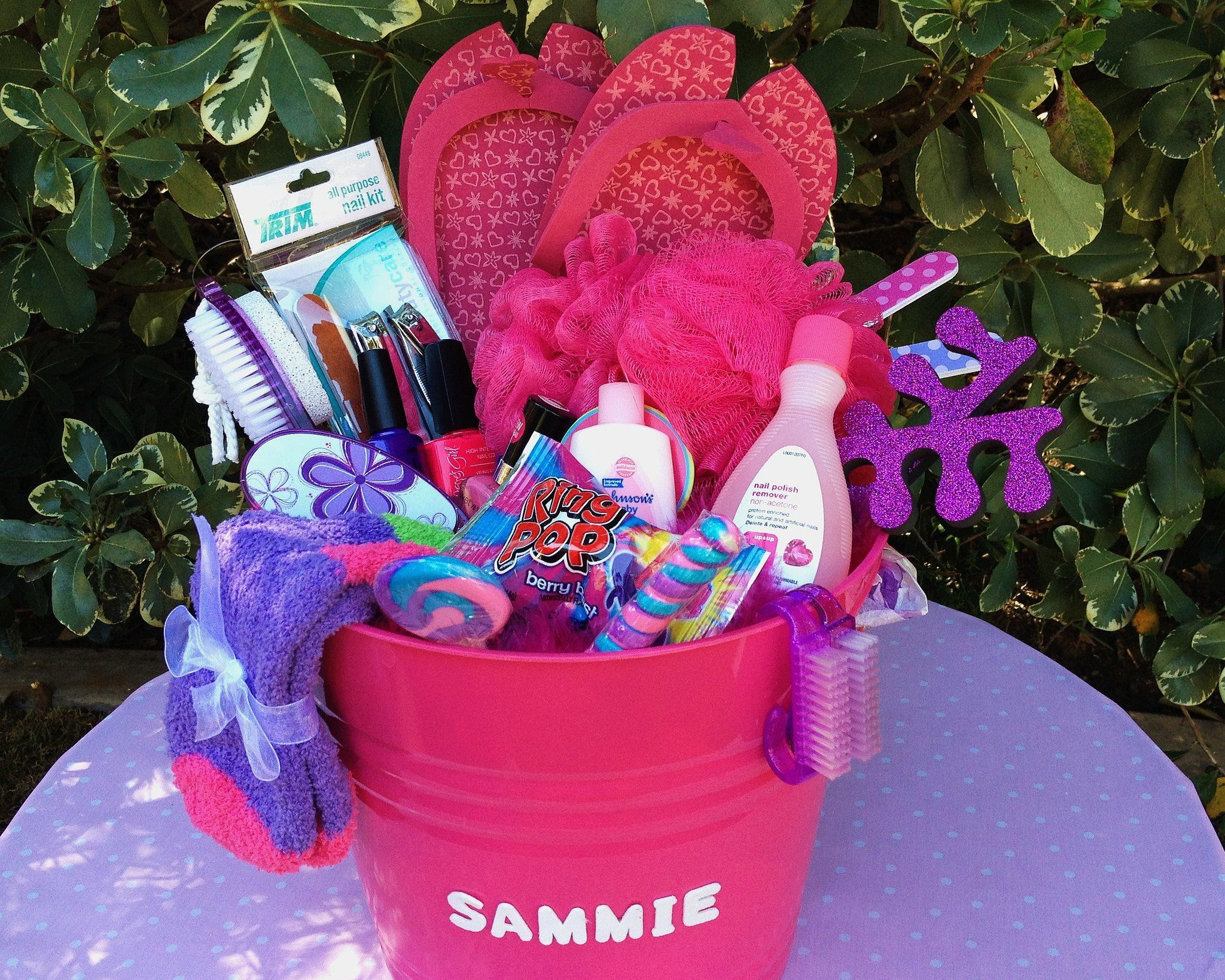 Bargain easter baskets that are better than your mom made mani mani pedi party easter basket if your little girl loves to pamper herself our mani pedi party basket is perfect negle Image collections