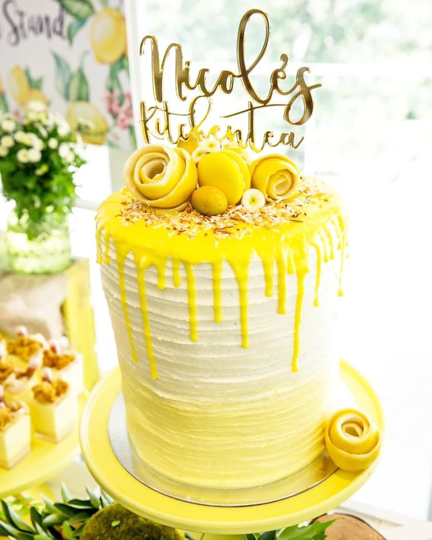 Love this Cake !! Positano kitchen Tea themed