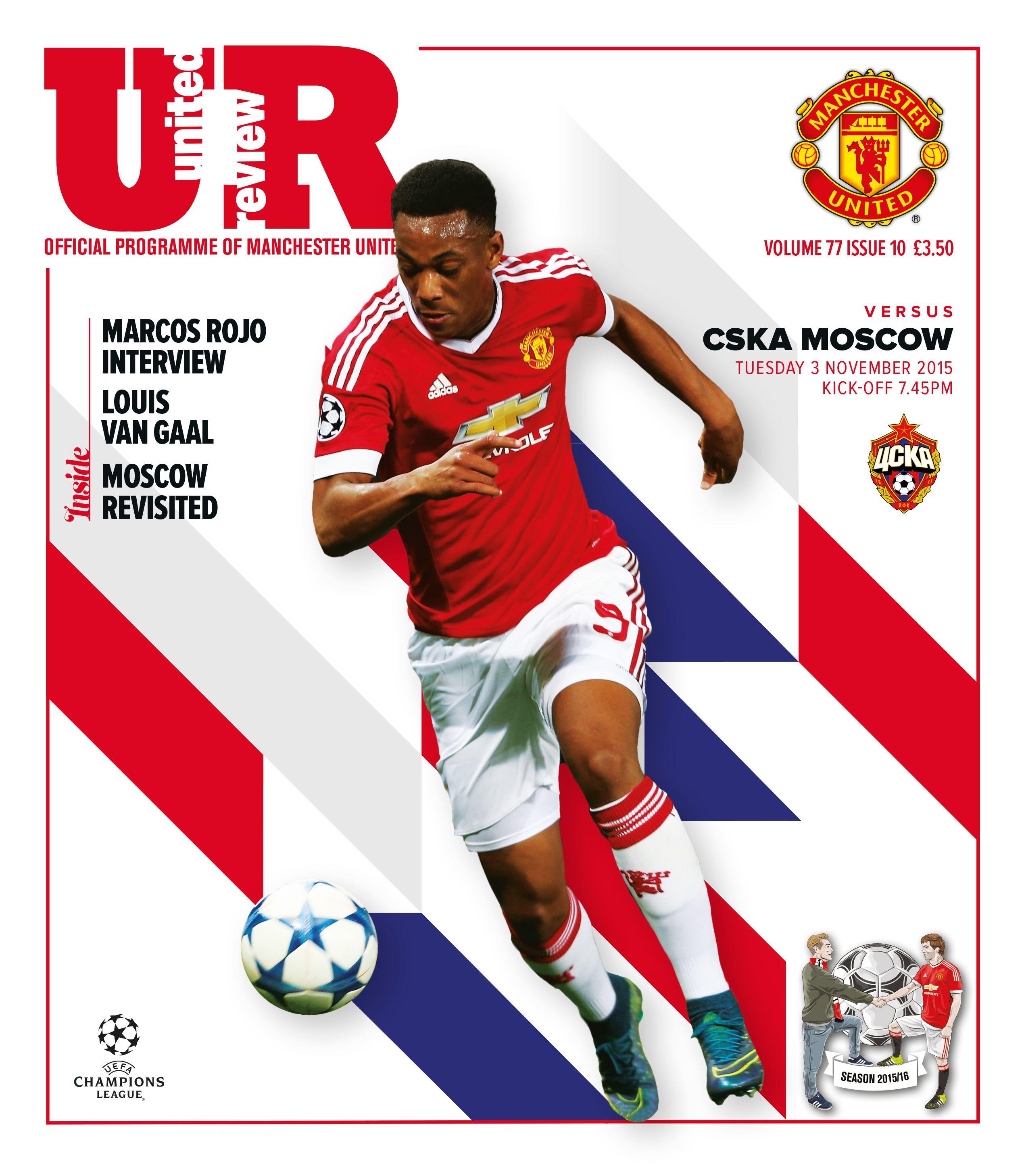 United Review cover. manutd v CSKA Moscow, 3 November