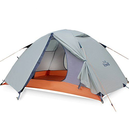 Outdoor Waterproof 2 Person Double Layer Double Pole Tent Camping