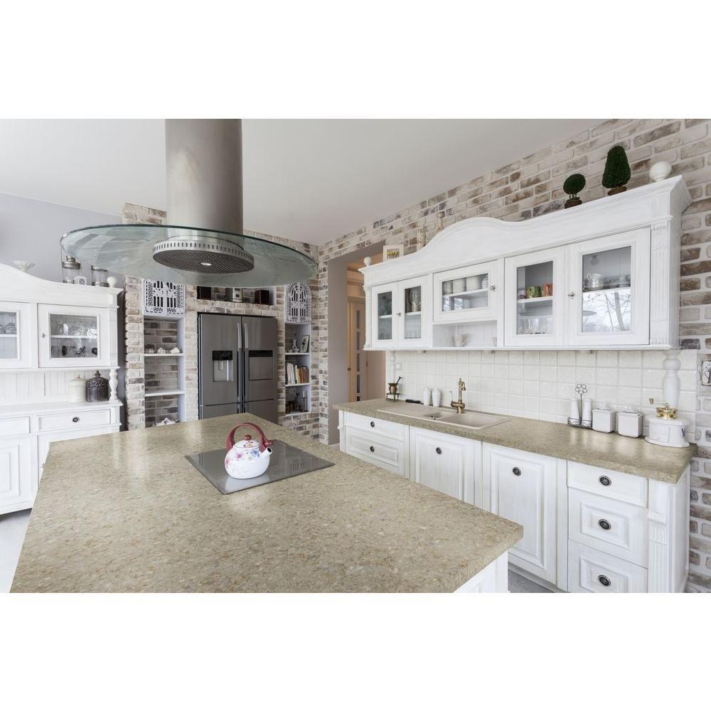 quartz countertop sample in the home