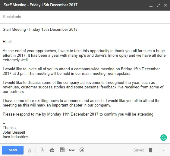 Invitation Letter Examples and Templates for Business
