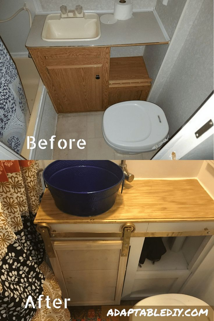 Check Out Our Amazing RV Bathroom Renovation. Before And