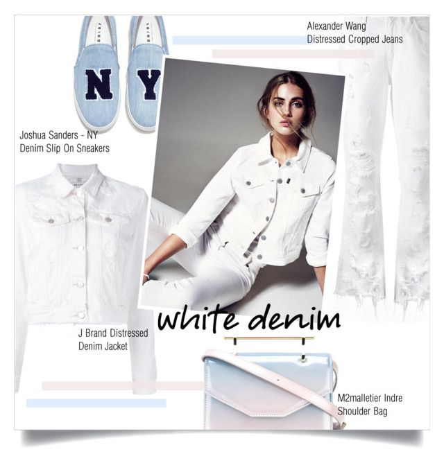 """White Denim"" by mila-me ❤ liked on Polyvore featuring J Brand, Alexander Wang, Joshua's and M2Malletier"