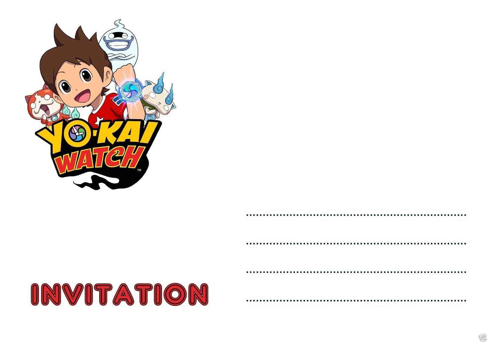 Carte Anniversaire Yokai.Carte Anniversaire Cartes Invitation Anniversaire