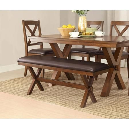 Adjustable Better Homes and Comfortable Gardens Maddox Crossing Dining  Perfect Bench  Espresso Discount Low Wooden Legs Furniture Space Design  Affordable. http   www walmart com ip Better Homes and Gardens Maddox Crossing