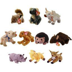 39127c4d3d1 TY Beanie Babies - WILD ANIMALS  2 (Set of 10)(Chipper