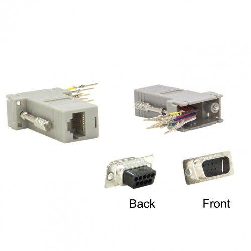 Modular Adapter Gray Db9 Male To Rj45 Jack Rj45 Modular Adapter