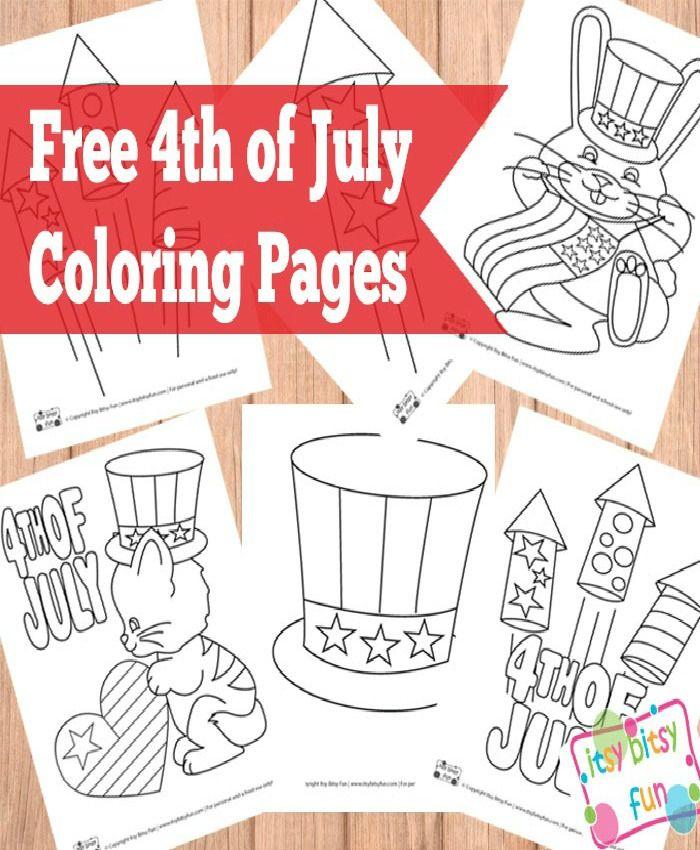 4th of July Coloring Pages | Acampar, Lilas y Tierra