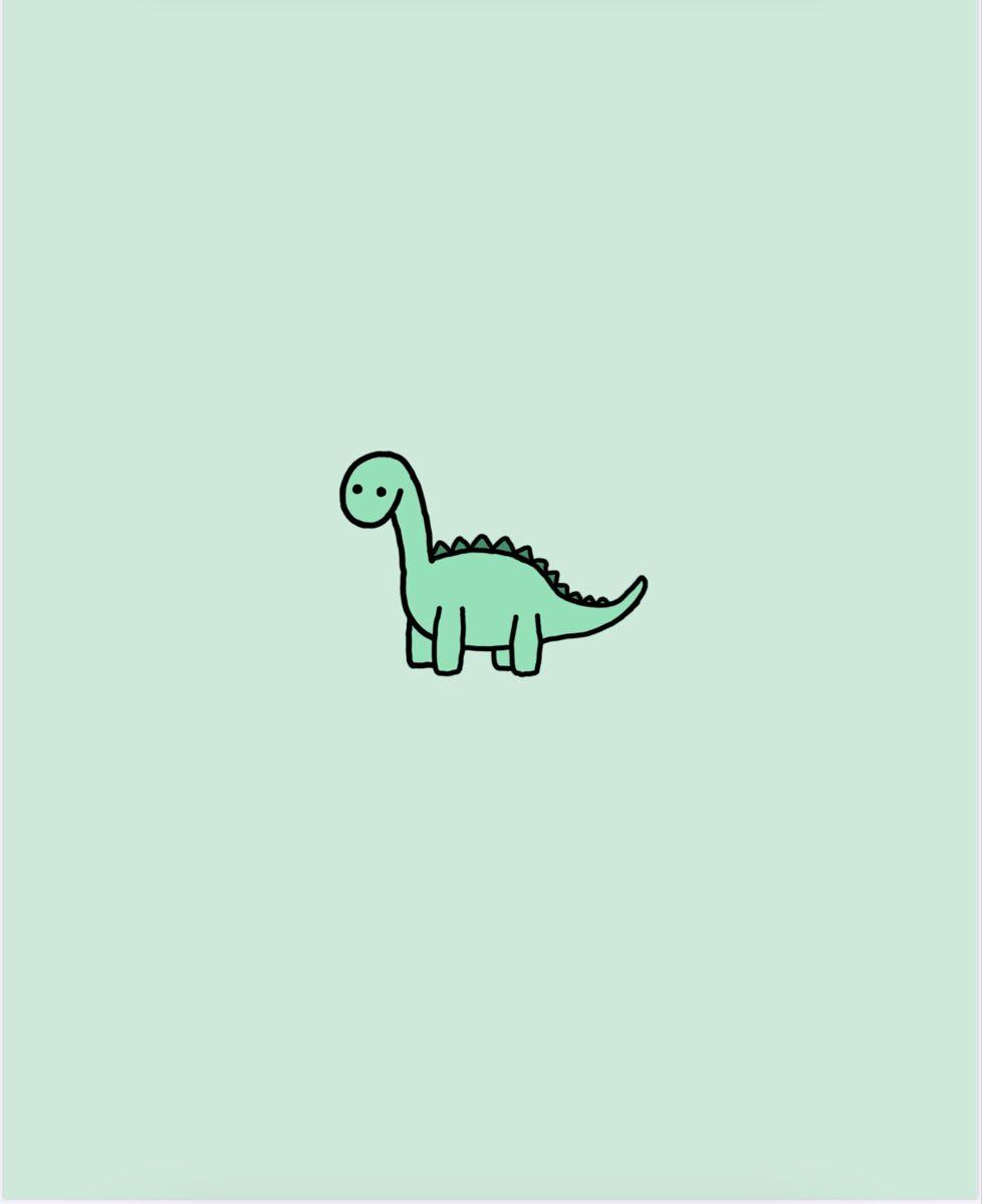 Green Dinosaur Kartun Ilustrasi Foto Kucing Lucu