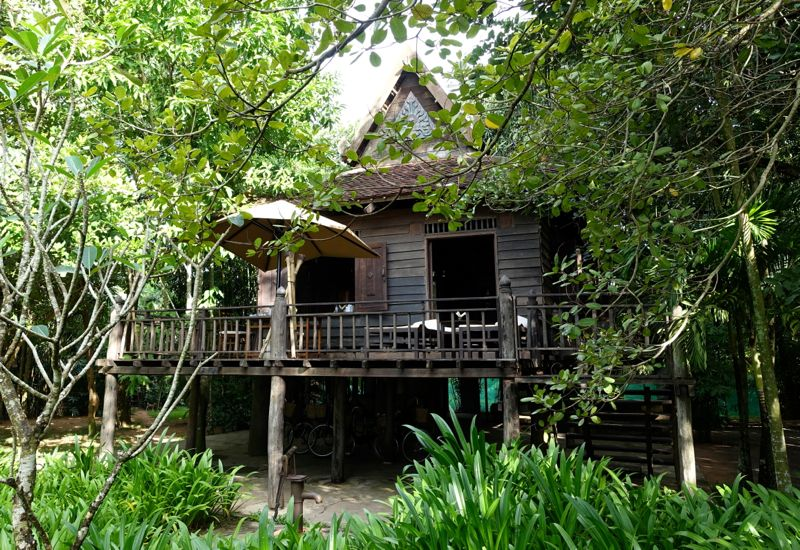 Amansara S Khmer Village House And Garden Village Houses House Wooden House