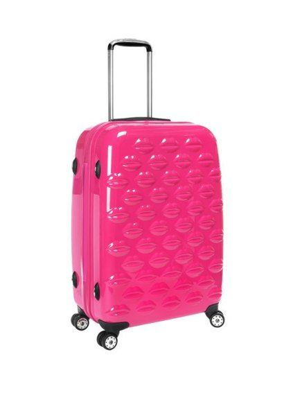 c3e621fdfce4 Lulu Guinness Shocking Pink Hard-Sided Lips Medium Spinner Case   holtspintowin 2 6 personal selection