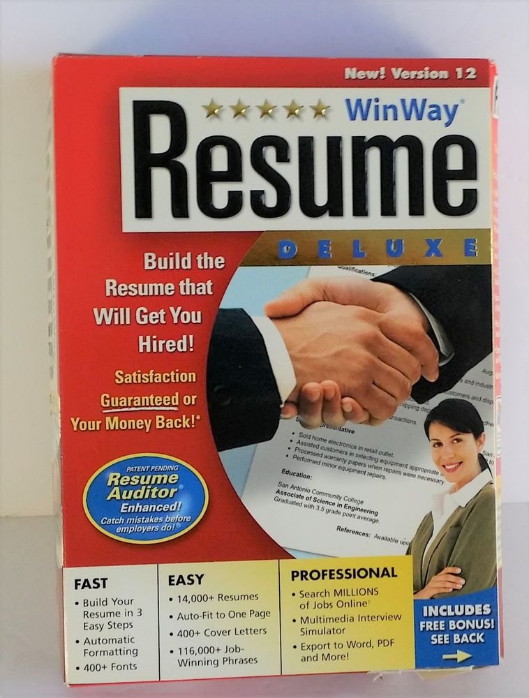 Nova Development WinWay Resume Deluxe 12 - USED - winway resume deluxe