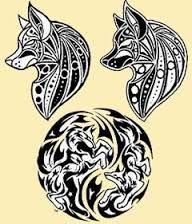 Resultado de imagem para desenhos de lobos para tattoo