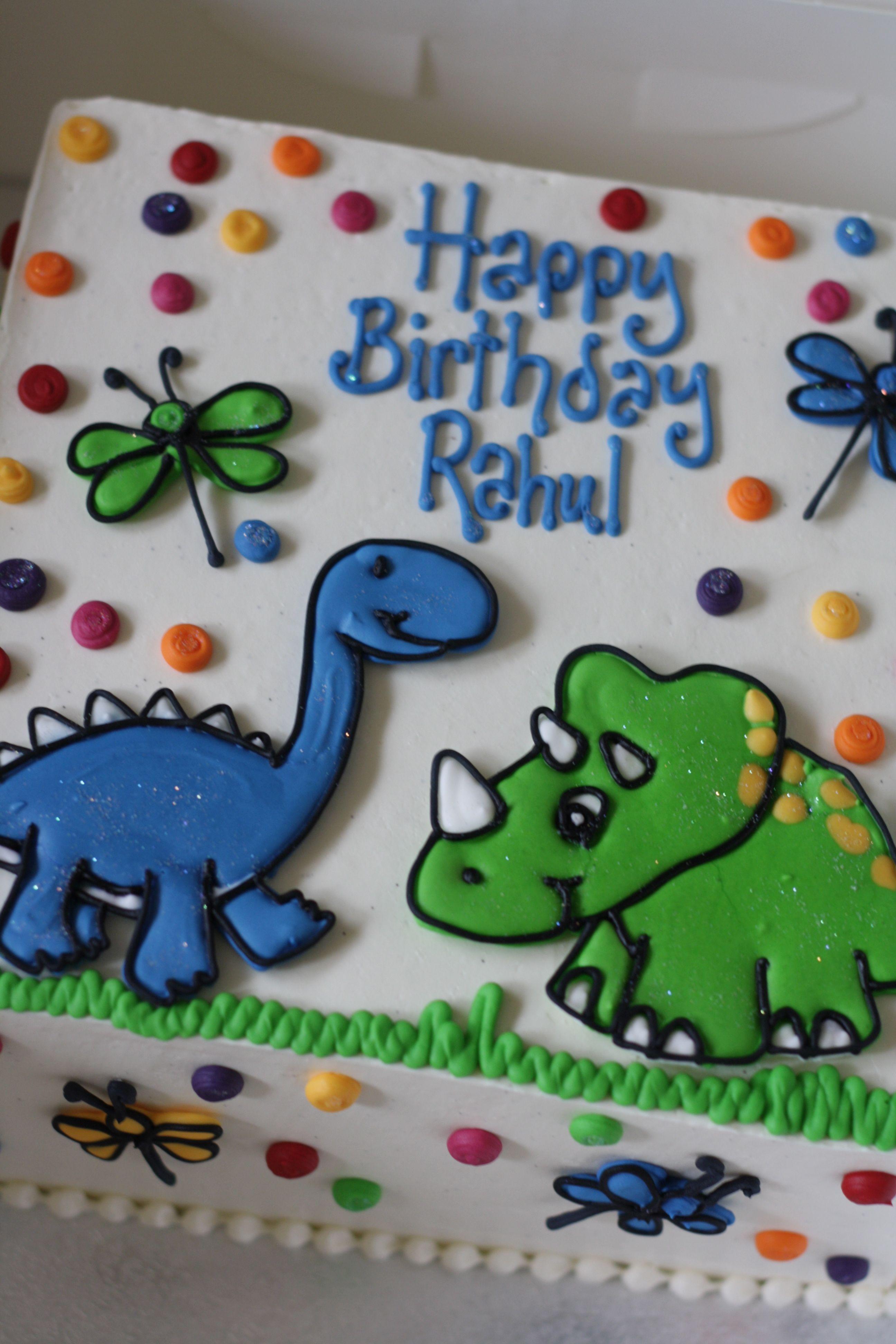 Dinosaur Birthday Cake With Images Dinosaur Birthday Cakes