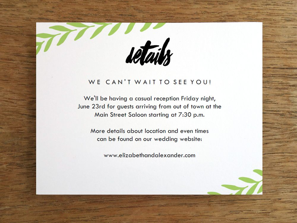 free templates for wedding response cards%0A A light green laurel branch gracefully swoops across the these wedding  templates  Combined with the