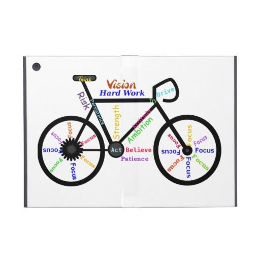 Motivational Bike Words Cycle Sport Fan Cover For Ipad Mini