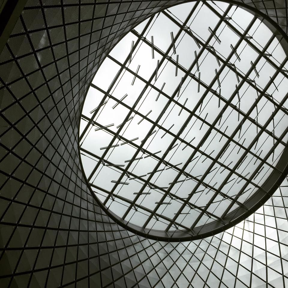 ‪#‎macriseeks‬: the ‪#‎fultoncenter‬ ceiling, the first skylight made for a station complex since City Hall closed in 1945  We love the ‪#‎architecture‬ in our neighborhood! ‪#‎nyc‬ ‪#‎bethmacri‬