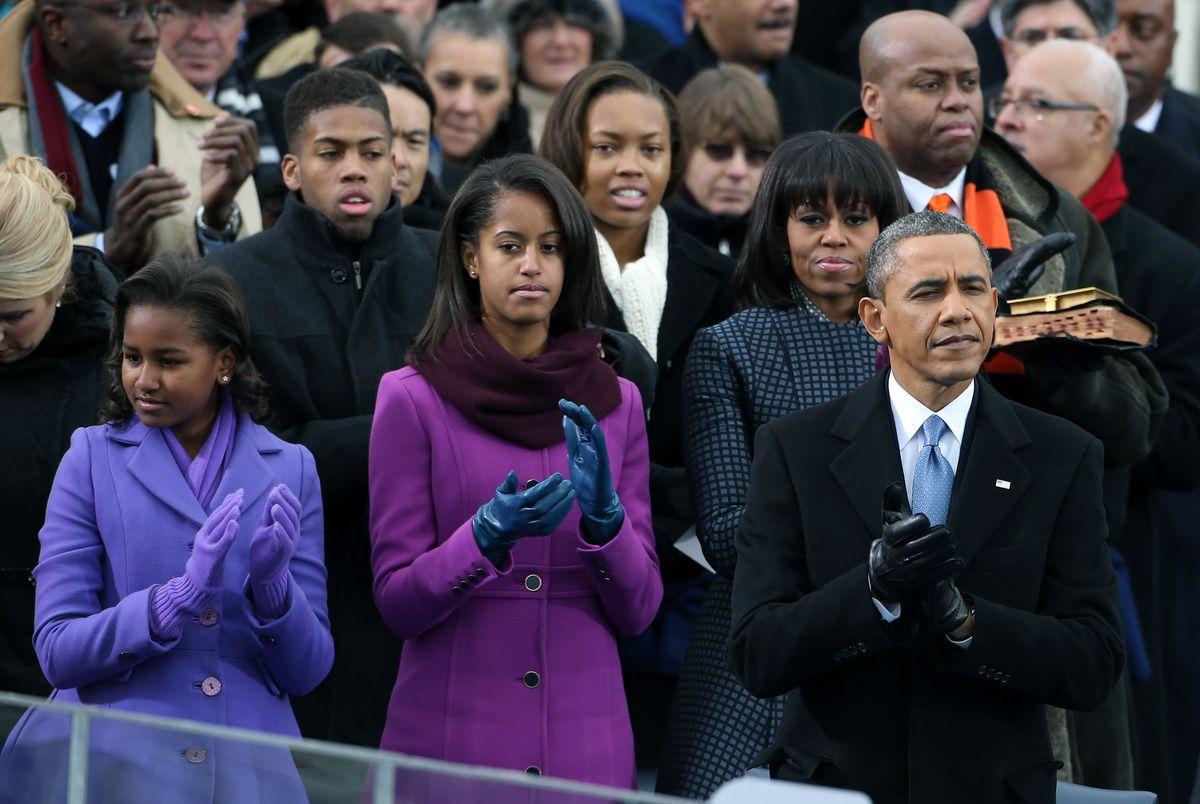 Obama girls inauguration day 2013