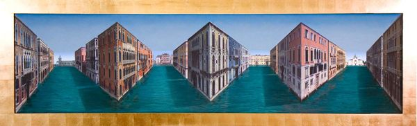 Views of Venice by Patrick Hughes...the real effect is when you see it in person!