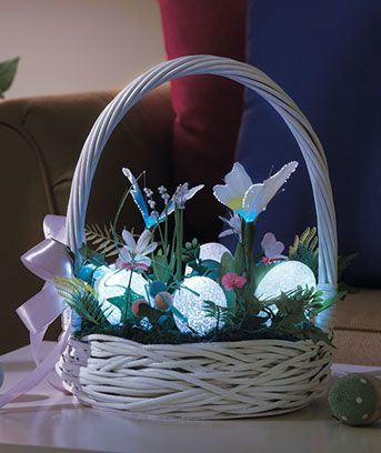 Fiber-Optic Spring Baskets