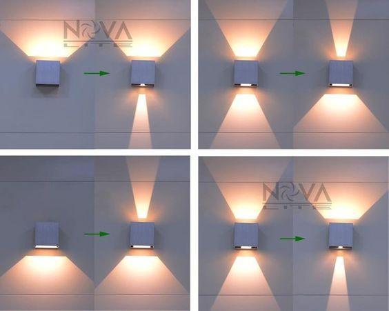 Cree extérieure wall light led up down appliques réglable lampe de
