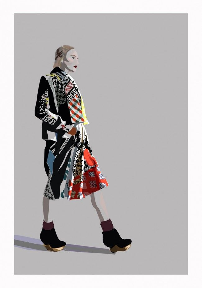 Amazing illustration of Basso and Brooke AW12 by Ruby Browning for www.alexloves.com