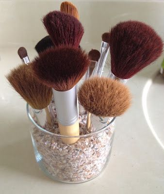 diy makeup brush holder with used candle jar  follow the
