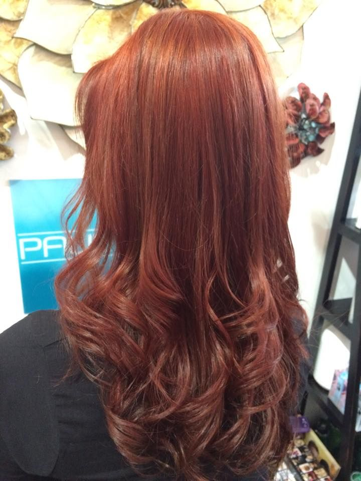 Red with lowlights from Hair Salon Owner John Barnes | Red ...