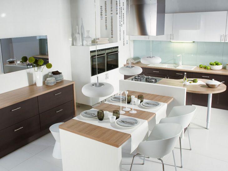 Httpwwwleroymerlinfrmultimediaideesconseils - Ilot cuisine table a manger pour idees de deco de cuisine