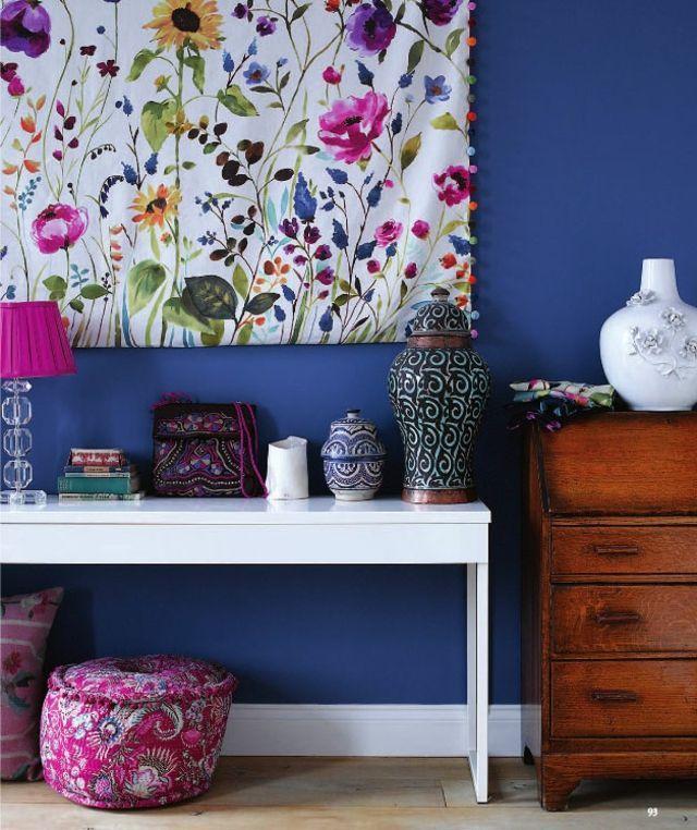 Wandgestaltung kreativ originelle Idee Designs Stoff | home sweet ...