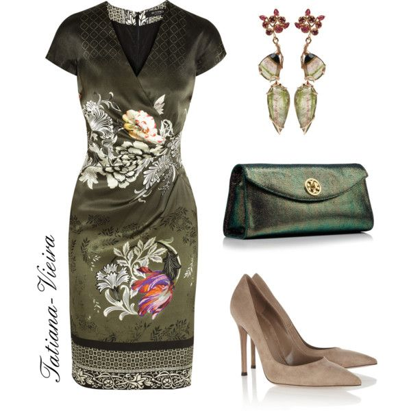 "#Mother of the #Bride #Dress in olive green. ""099"" by tatiana-vieira on Polyvore"