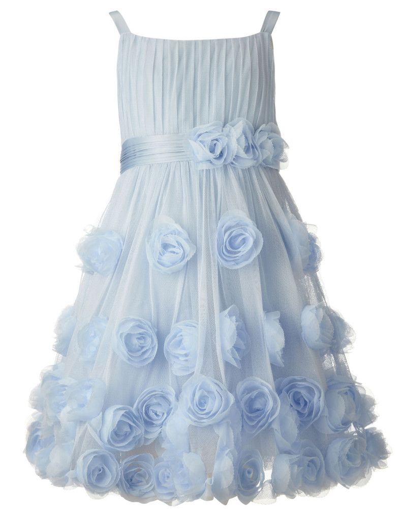 Rosie Corsage Dress Blue Flower Girls at Monsoon | wedding ...