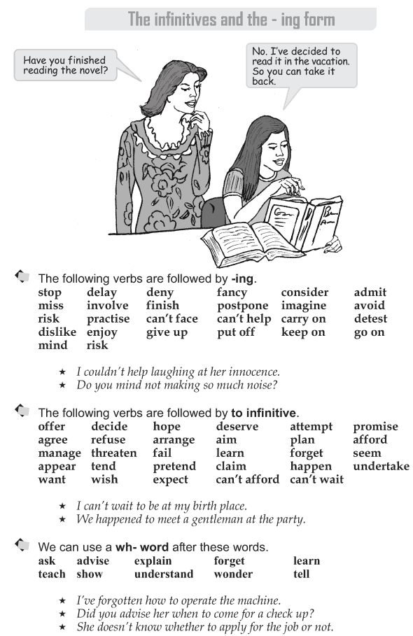 verb infinitive or ing form exercises pdf