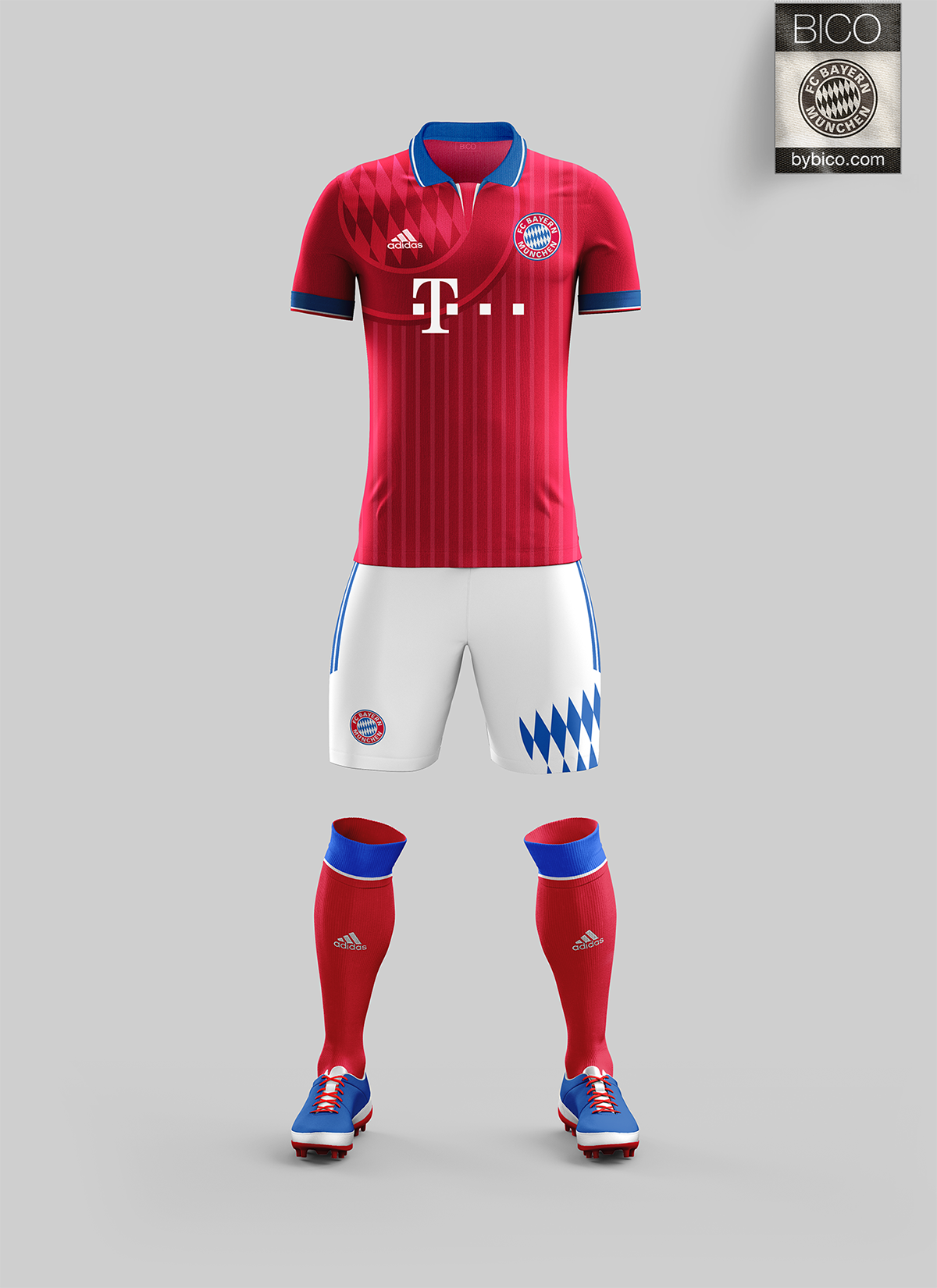 6f20e591961d4 FC Bayern Kit on Behance Remeras De Futbol