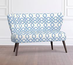 Lilly Pulitzer Madison Upholstered Settee Pottery Barn