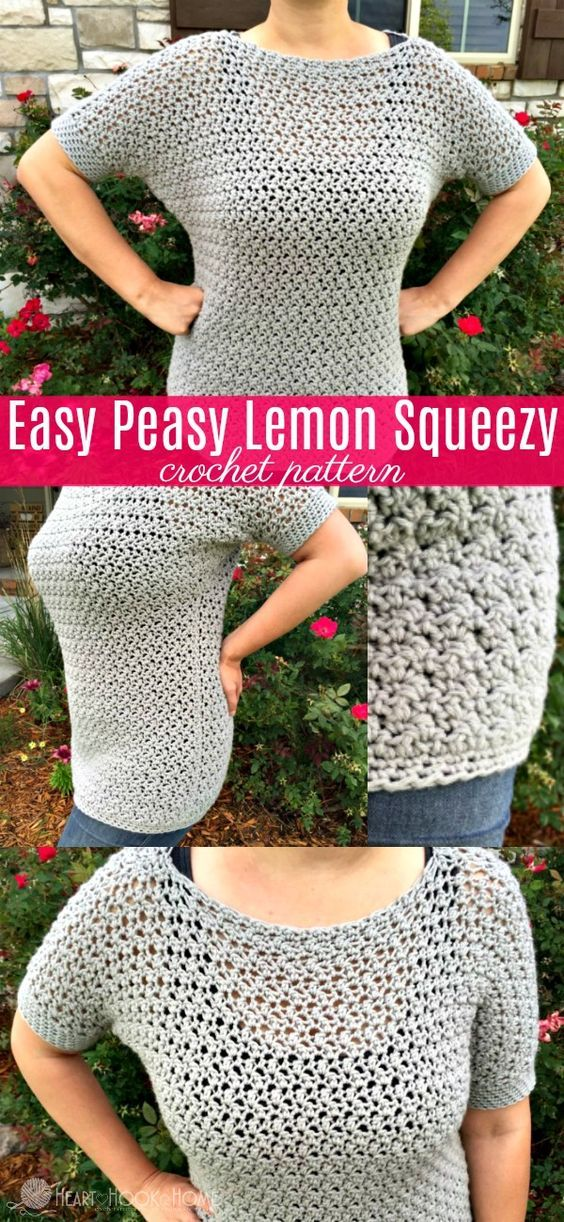 Easy Peasy Lemon Squeezy Pullover Crochet Pattern | Häkeln, Querbeet ...