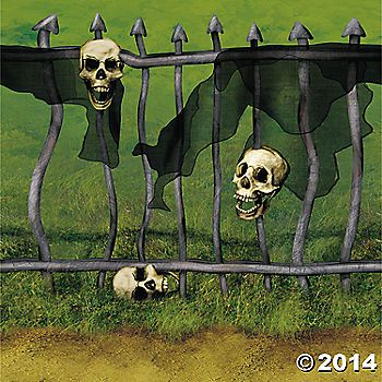 fence scene setter Haunted House Pinterest Fences, Scene - halloween scene setters decorations