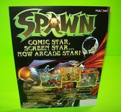 Spawn Arcade FLYER 1999 Original Comic Book Artwork Game ...