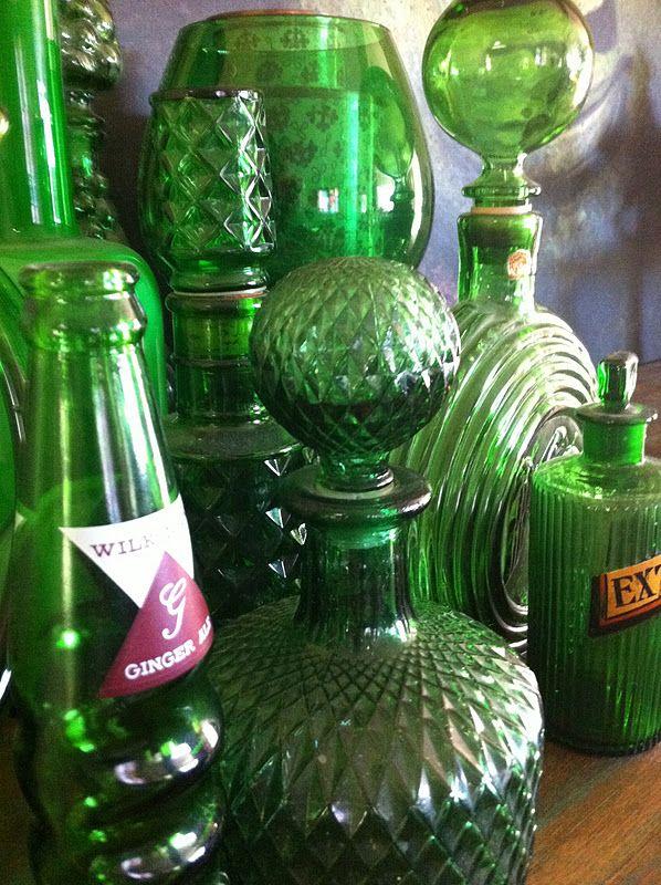 lovely green glass