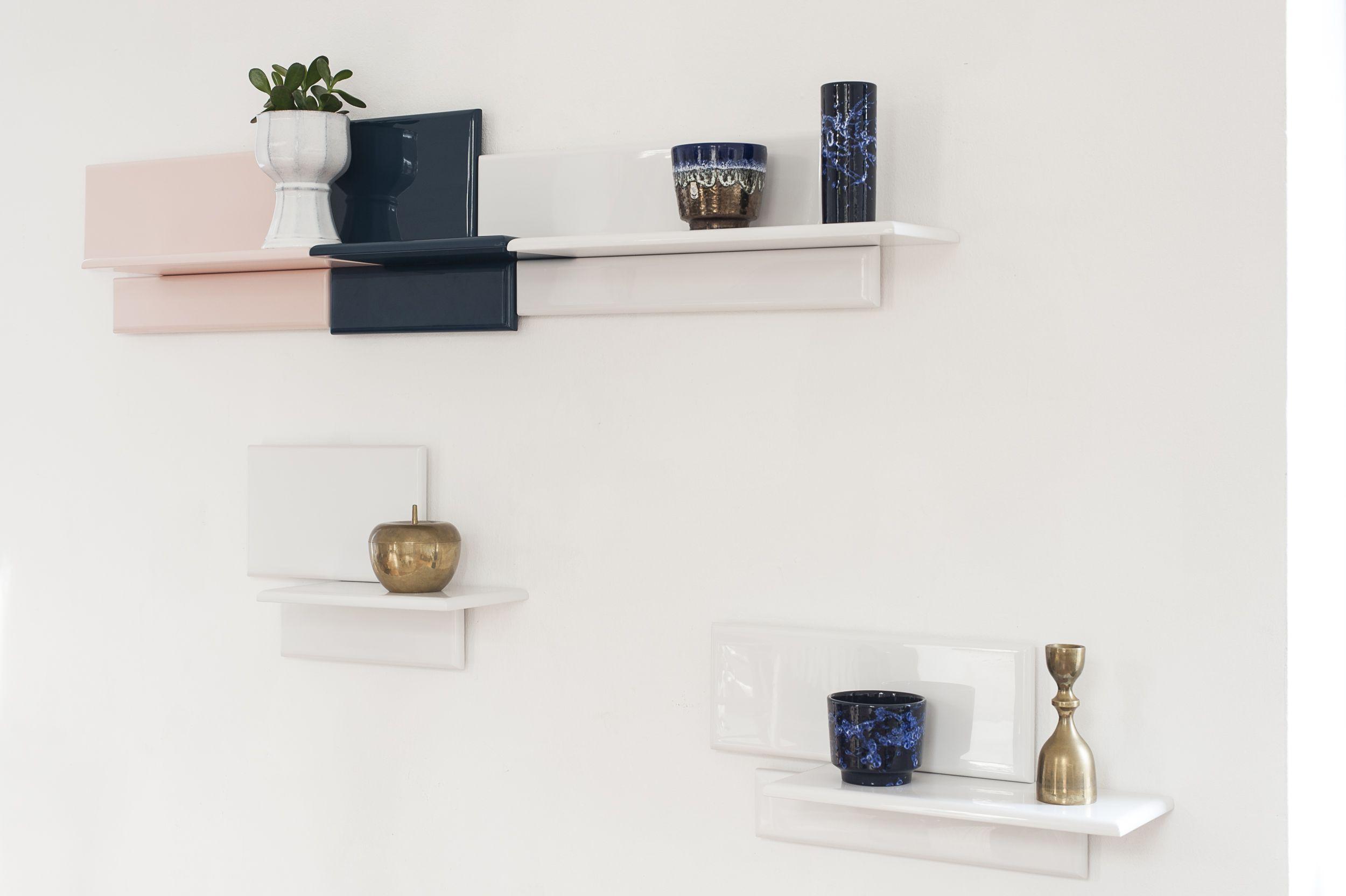 AZULEJOS wall shelvs in wood // high gloss finish // www.o-ceu.com