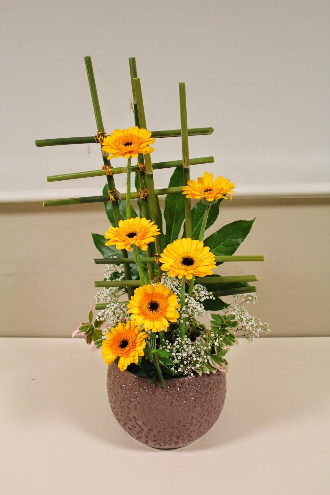 art floral breal bouquet de fleurs jaunes pinterest