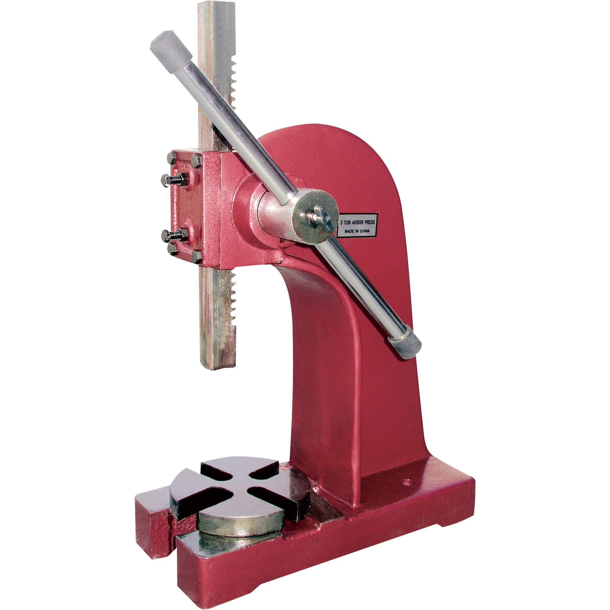 Northern Industrial Tools Arbor Shop Press 3 Ton Arbor Presses Metal Working Tools Shop Press Tools
