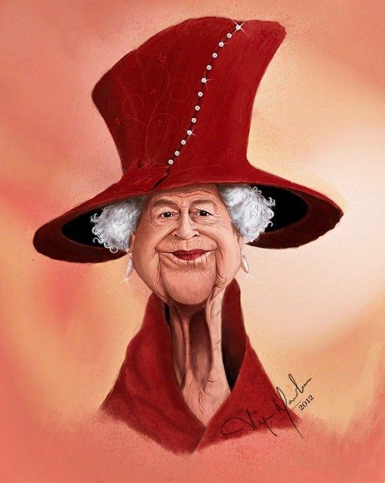 The Queen Caricature Funnyfaces Caricature Celebrity Caricatures Political Caricature