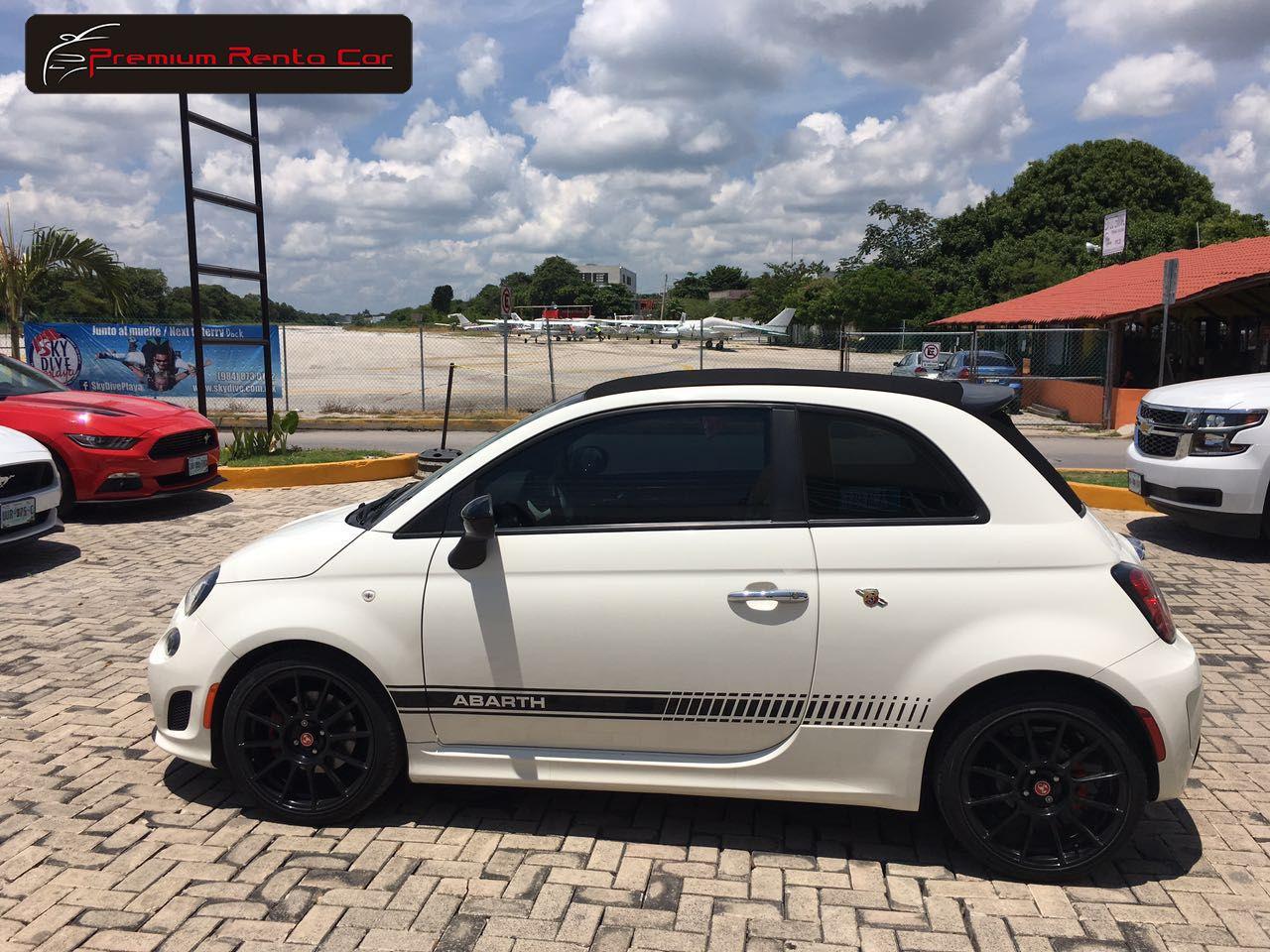 Fiat 500 Abarth Convertible 2016 Color Blanco Con Interior Color